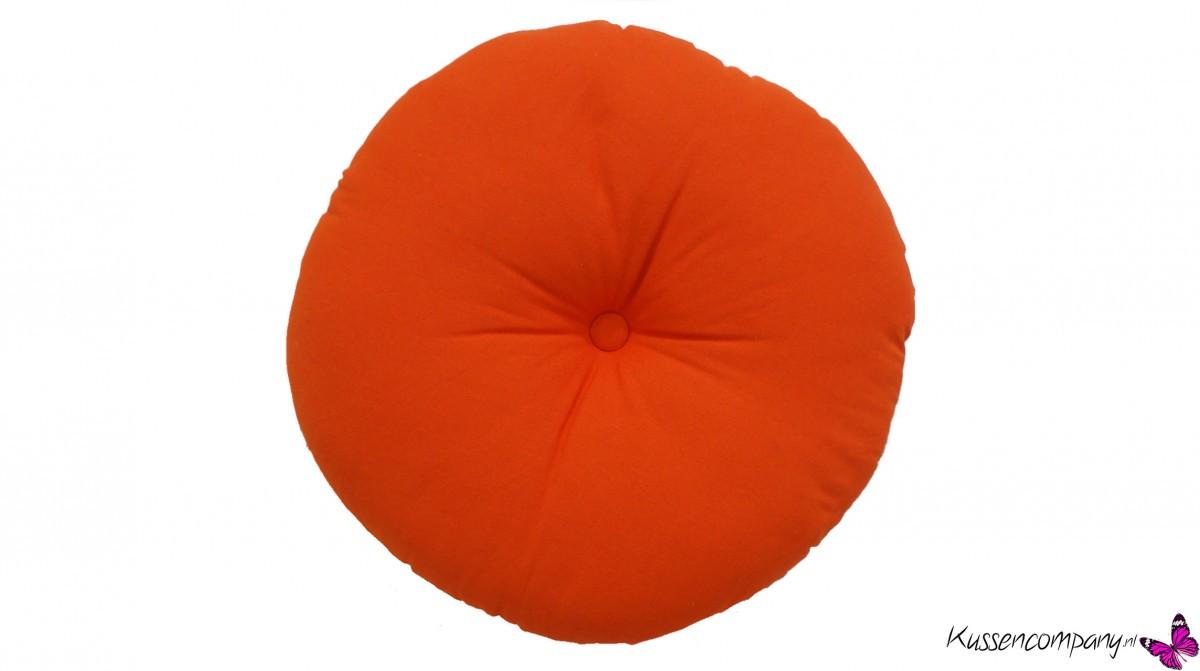 Kussen rond oranje 45 cm sierkussens kussens poefen zitkussen
